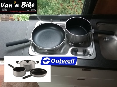 650133- Outwell feast cook set - kookset L - pan en kleine pot