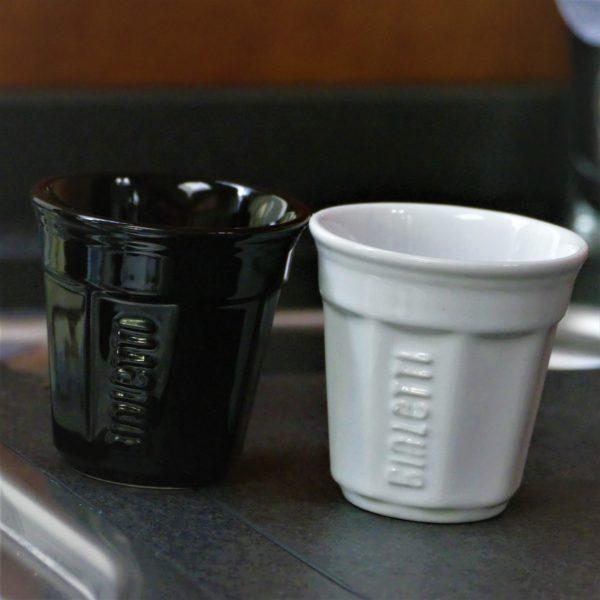 Bialetti I Bicchierini Espresso koppen wit - zwart - 6 stuks