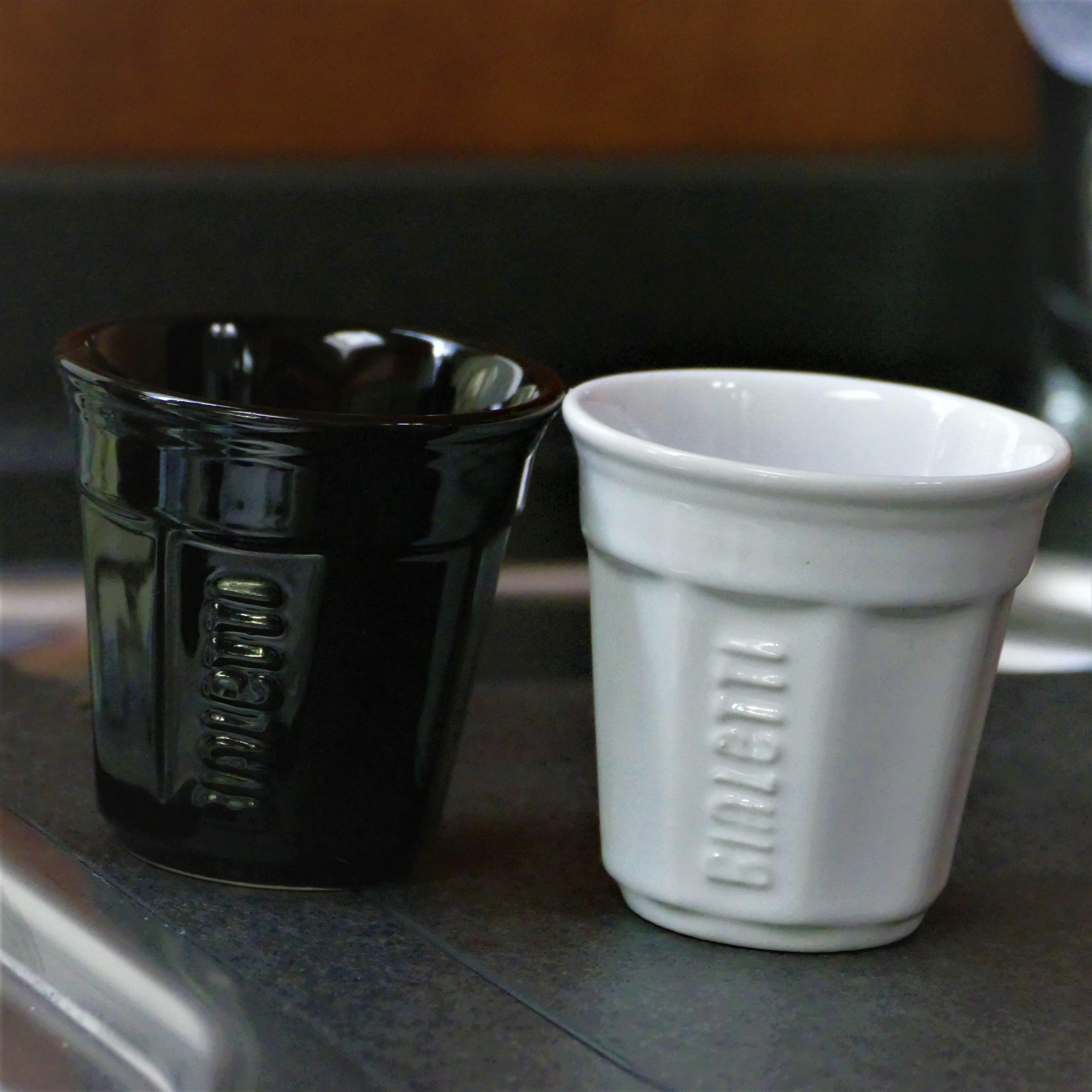 Bialetti I 6 Bicchierini Wit Koppen Zwart Espresso Stuks kPOiXuZT