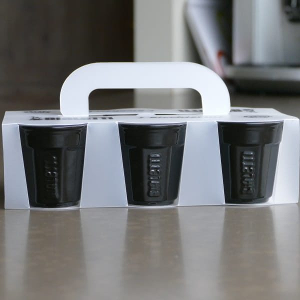 Bialetti I Bicchierini Espresso koppen zwart - 6 stuks