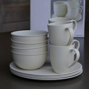 Outwell bamboo servies 4 p casablanca white