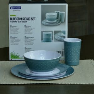 outwell blossom servies blue shadow 4p
